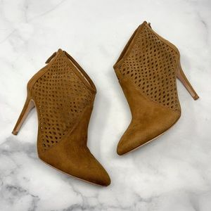 Zara Laser-Cutout Stiletto Pointed Ankle Booties
